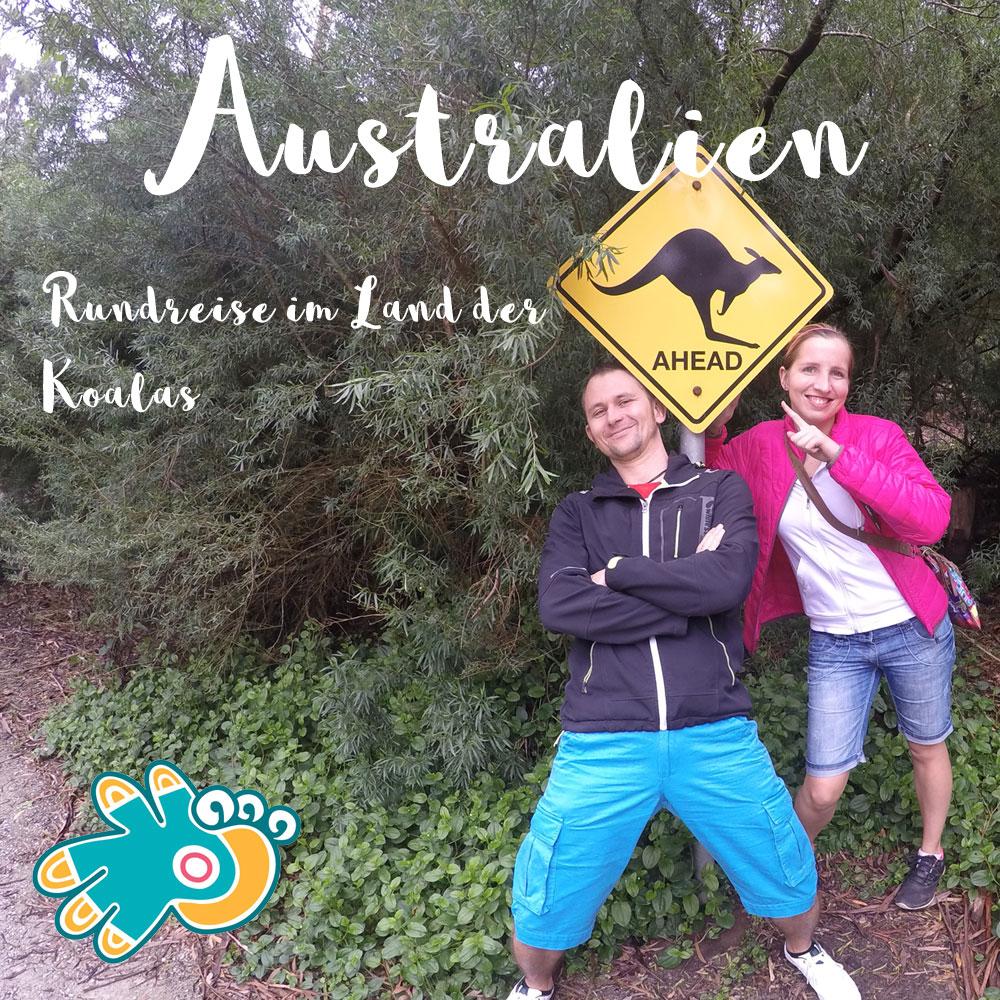 Australien Känguruh Schild