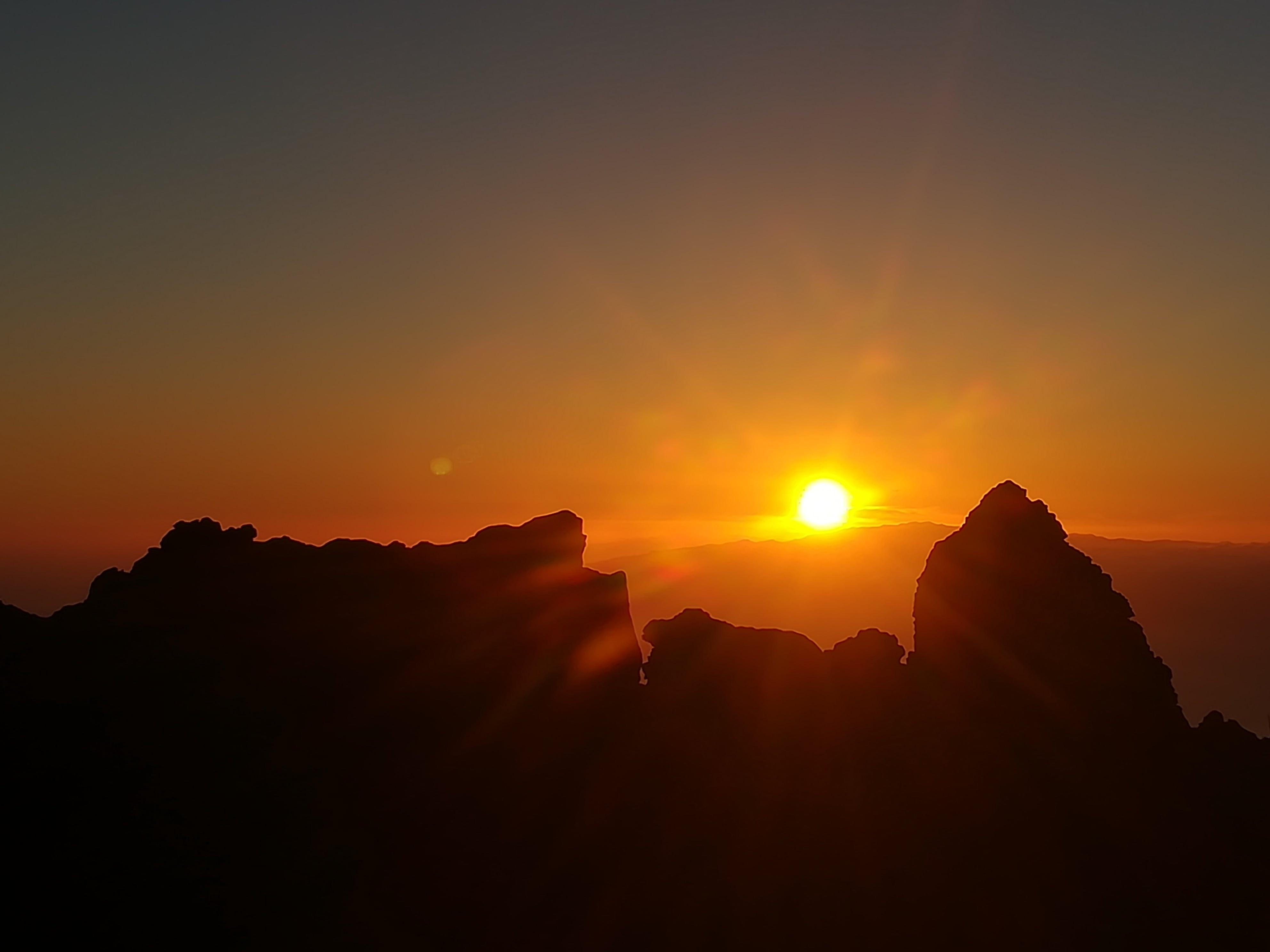 Sonnenuntergang Felsen#