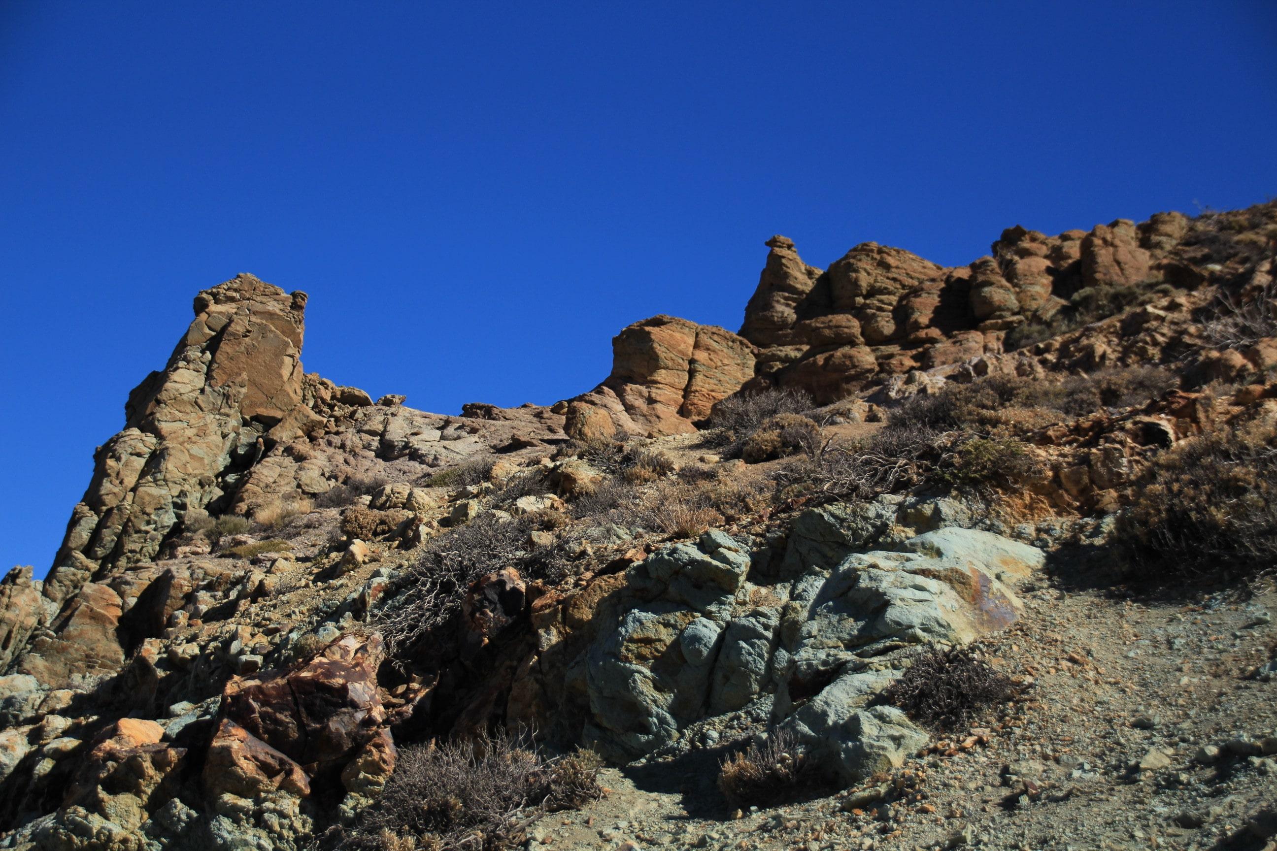 Teide Azulejos Felsformationen