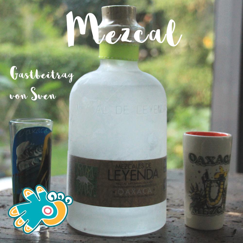 Mezcal Flasche aus Oaxaca, Mexiko