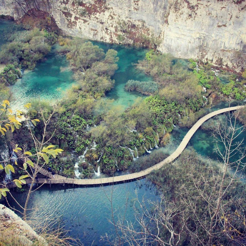 Weg von oben Plitvicer Seen