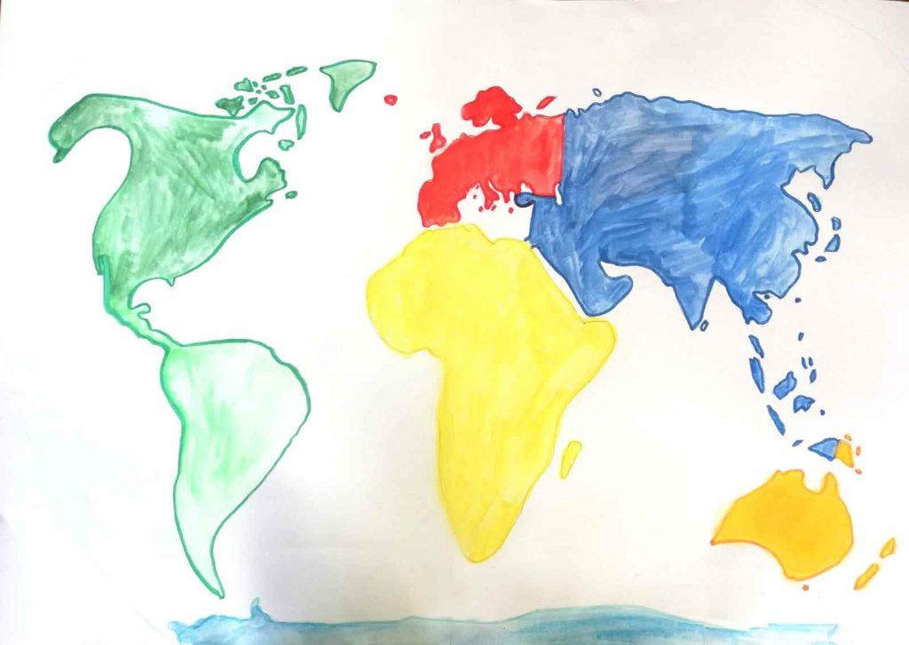 Weltkarte Meine Weltreise daheim