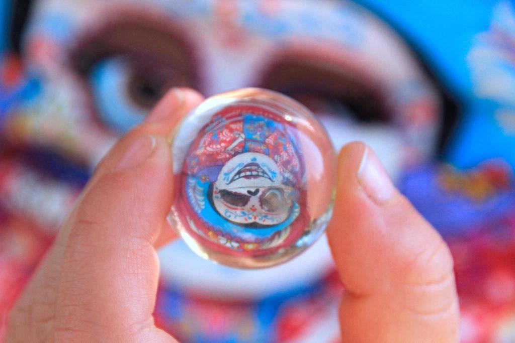 Glaskugel mit der Zukunftsprognose