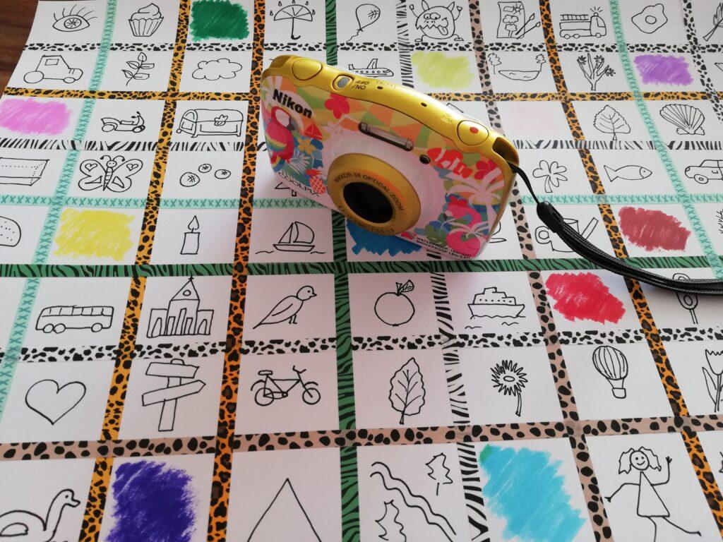 Foto Bingo Beschäftigung für Kinder