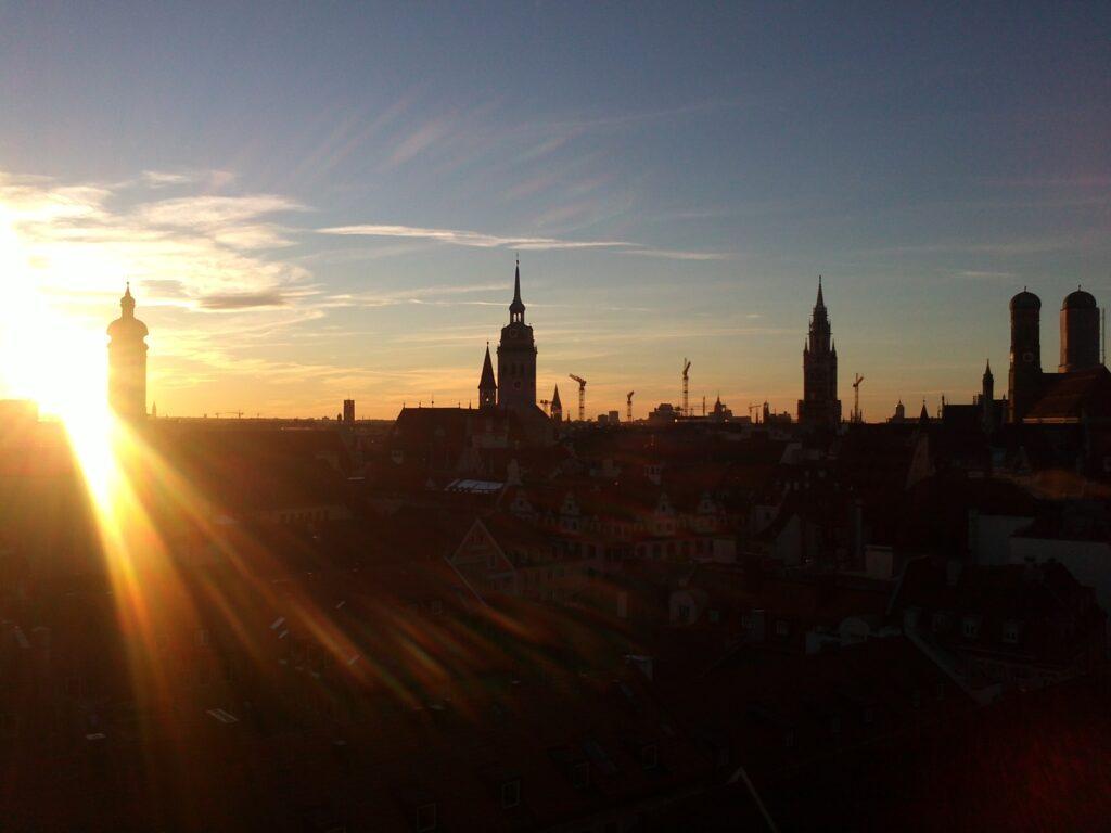 München im Sonnenuntergang